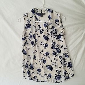 White blouse with floral pattern